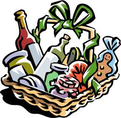 Merry Christmas clipart wine basket