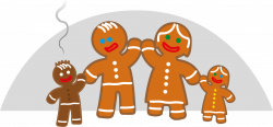 Gingerbread clipart gingerbread family
