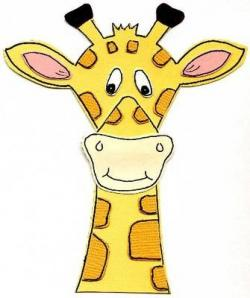 Giraffe clipart excited