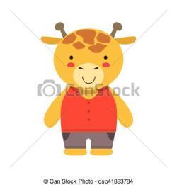 Giraffe clipart pants