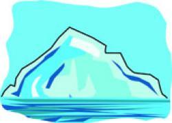 Iceberg clipart glacier
