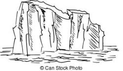 Iceberg clipart black and white