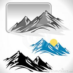 Peak clipart mountain sketch