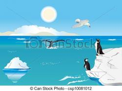 Iceberg clipart south pole