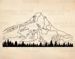 Glacier clipart washington