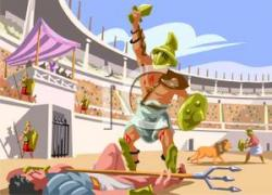 Colosseum clipart roman gladiator