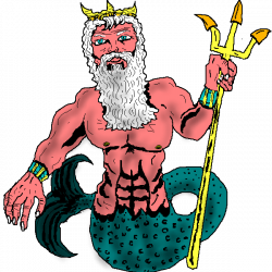 Mythology clipart poseidon