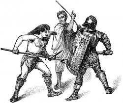 Gladiator clipart roman man