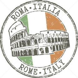 Colosseum clipart rome italy