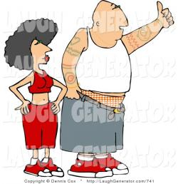 Couple clipart gangster