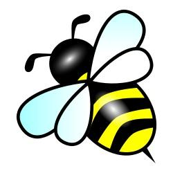 Glitch clipart bee