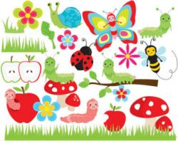 Lady Beetle clipart cute butterfly