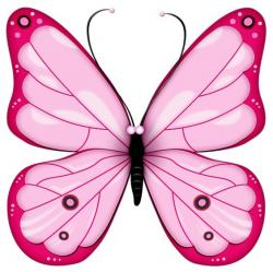 Glitch clipart colorful butterfly