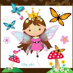 Glitch clipart cute butterfly