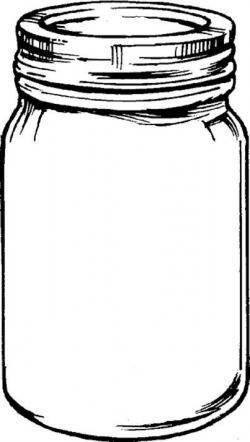 Drawn jam empty jar