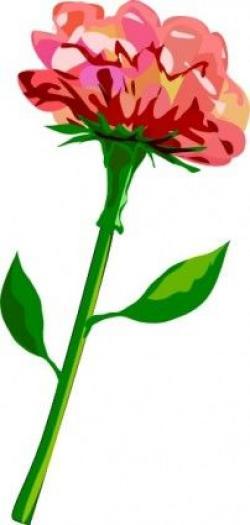 Red Flower clipart flower stalk