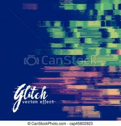 Glitch clipart illustration