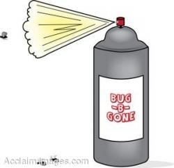 Can clipart bug spray