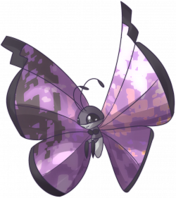 Glitch clipart simple butterfly