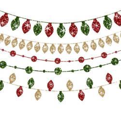 Christmas Lights clipart glitter