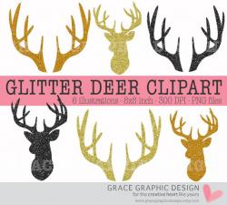 Gold clipart deer antler