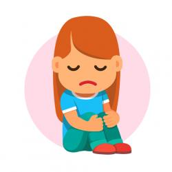 Gloomy clipart child depression