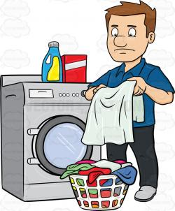 Men clipart washing clothes
