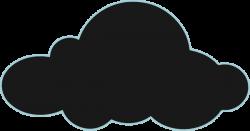 Gloomy clipart grey cloud