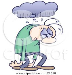 Gloomy clipart miserable