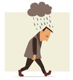 Gloomy clipart negative thinking