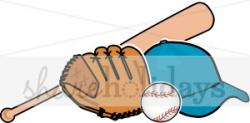 Glove clipart baseball bat