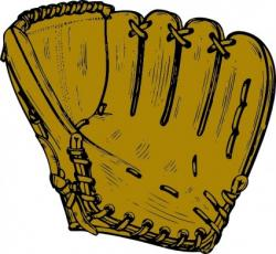 Glove clipart baseball field