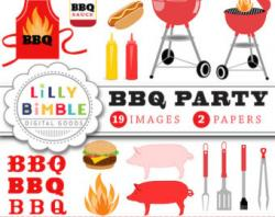 Hot Dog clipart bbq lunch