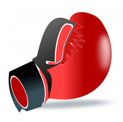Boxer clipart red boxing glove