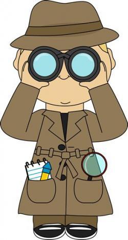 Sherlock Holmes clipart mystery box