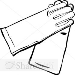 Glove clipart long