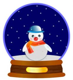 Snowman clipart snow globe