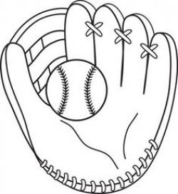 Glove clipart t ball