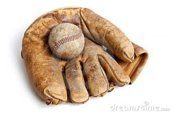 Glove clipart vintage baseball