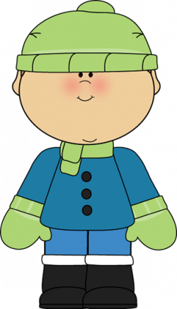 Little Boy clipart winter