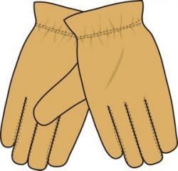 Glove clipart yellow