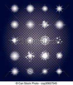 Glow clipart bright star