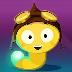 Glowworm clipart cute