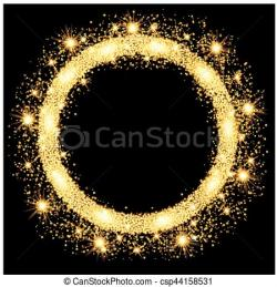 Glow clipart gold