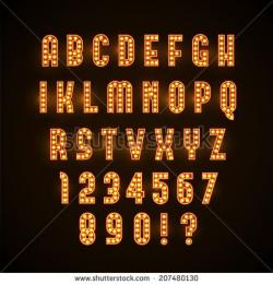 Glow clipart marquee lights