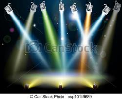 Glow clipart stage floor