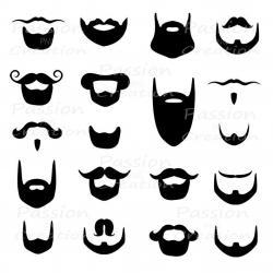 Beard clipart silhouette