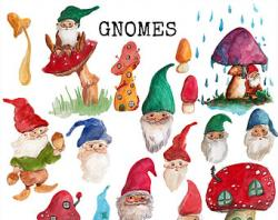 Gnome clipart painting