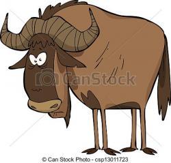 Wildebeest clipart cartoon