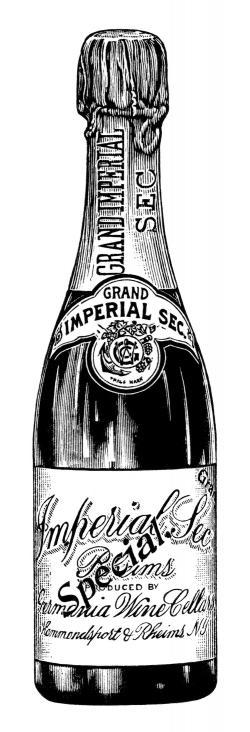 Champagne clipart retro